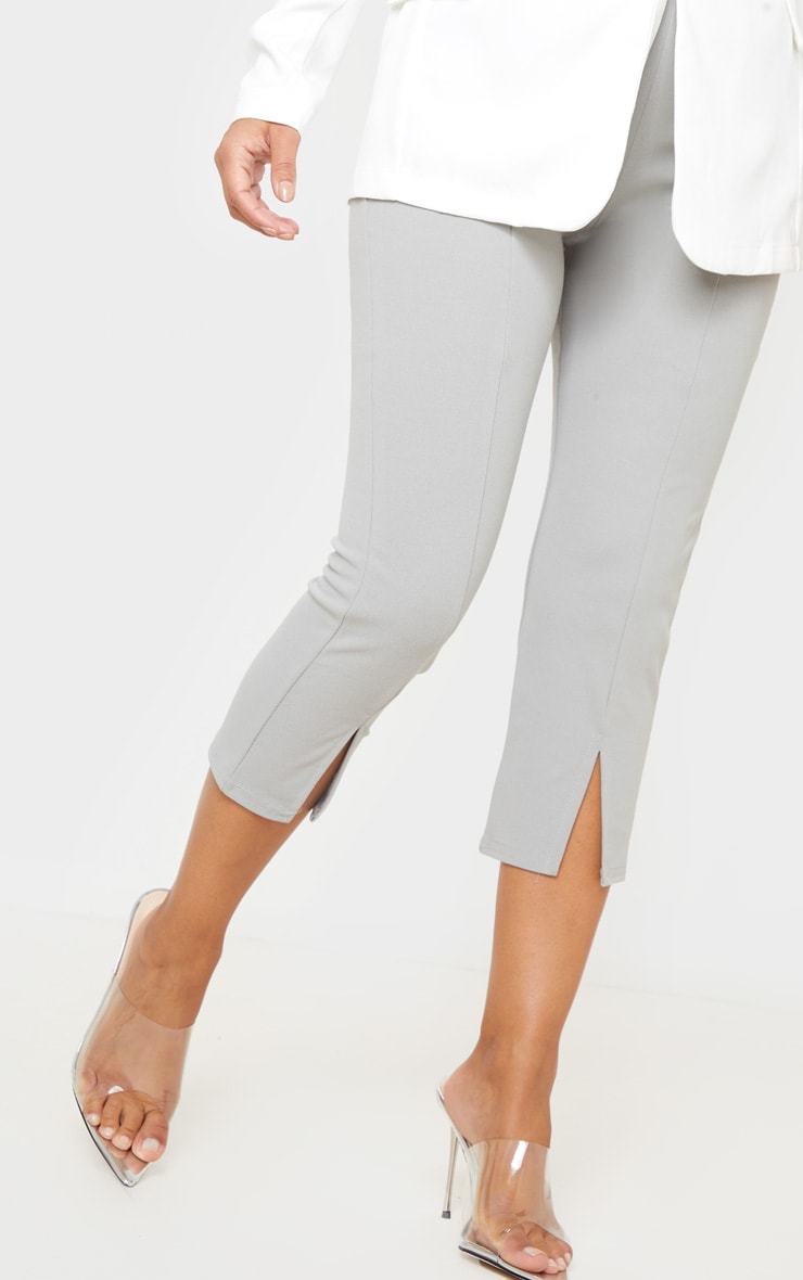 Petite Grey Split Front Cropped Legging 5