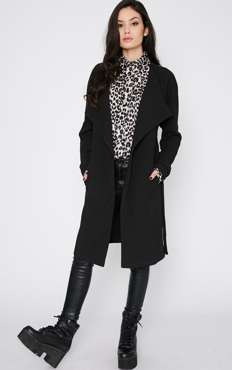 Ashia Black Trench Coat 4