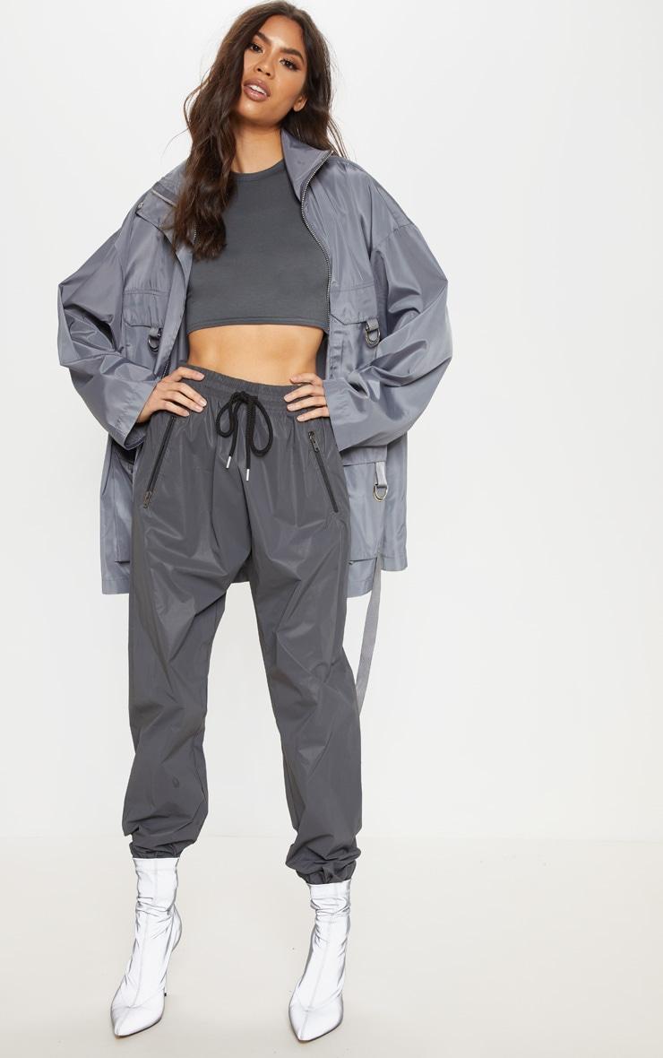 Charcoal Pocket Detail Oversized Jacket 1