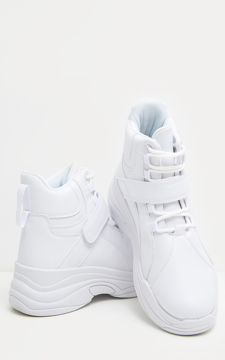 White Chunky High Top Trainer 3