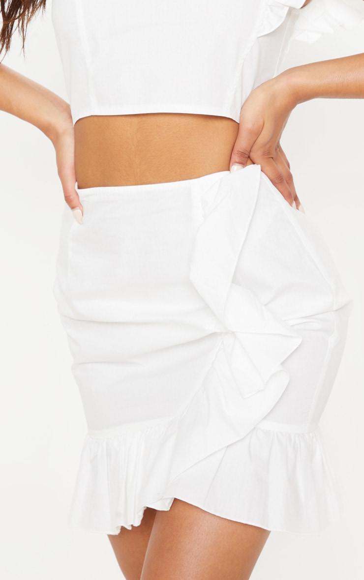 Cream Frill Detail Mini Skirt 6