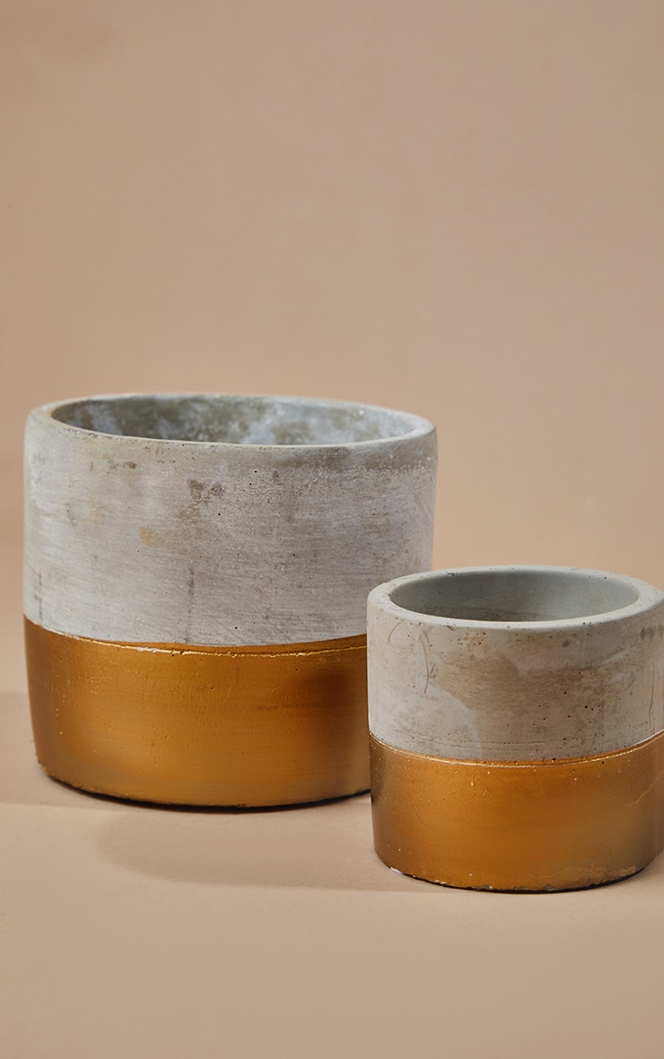 Gold Dipped Planters 2 Pack 3