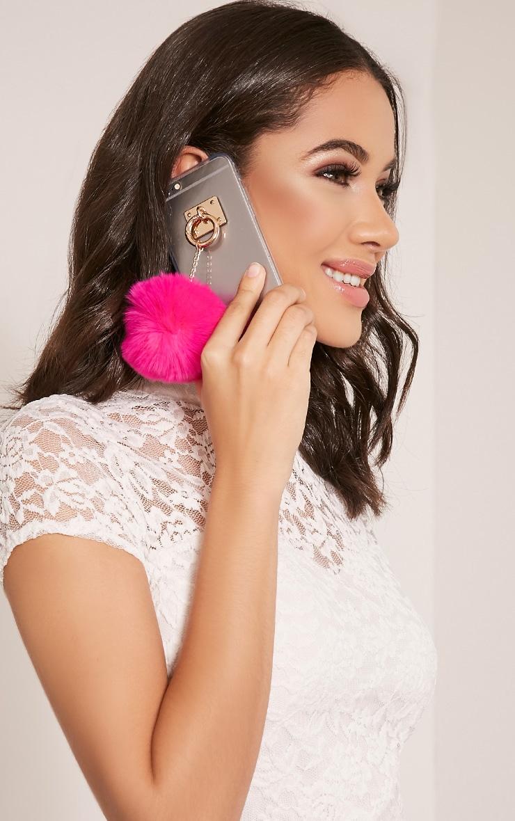 Pink Iphone 6 Pom Pom Detail Phone Case 3