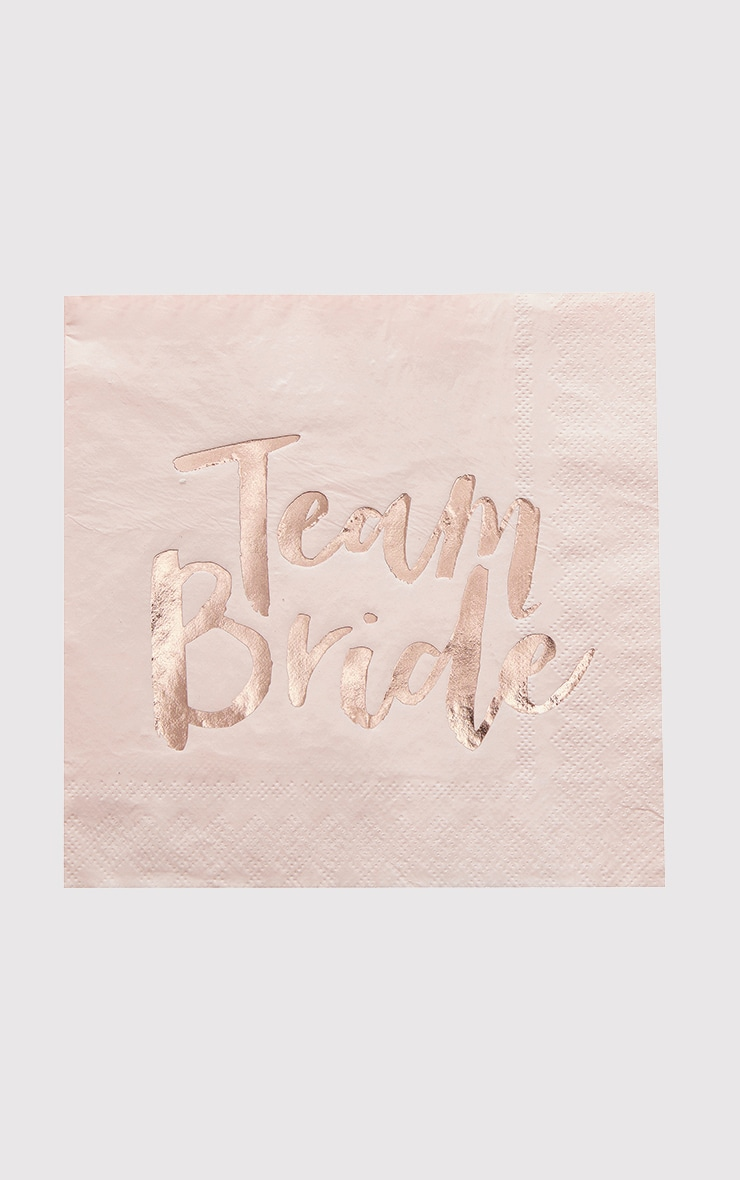 Ginger Ray 20 Pack Rose gold Team Bride Paper Napkins 2