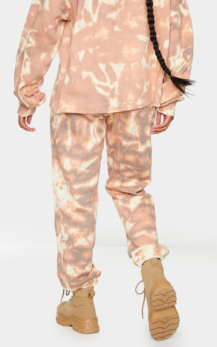 Light Brown Tie Dye Cuffed Joggers 3