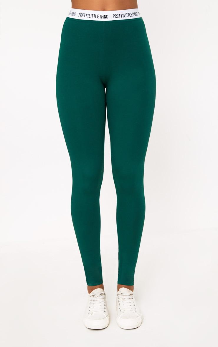 Green Prettylittlething Leggings 2