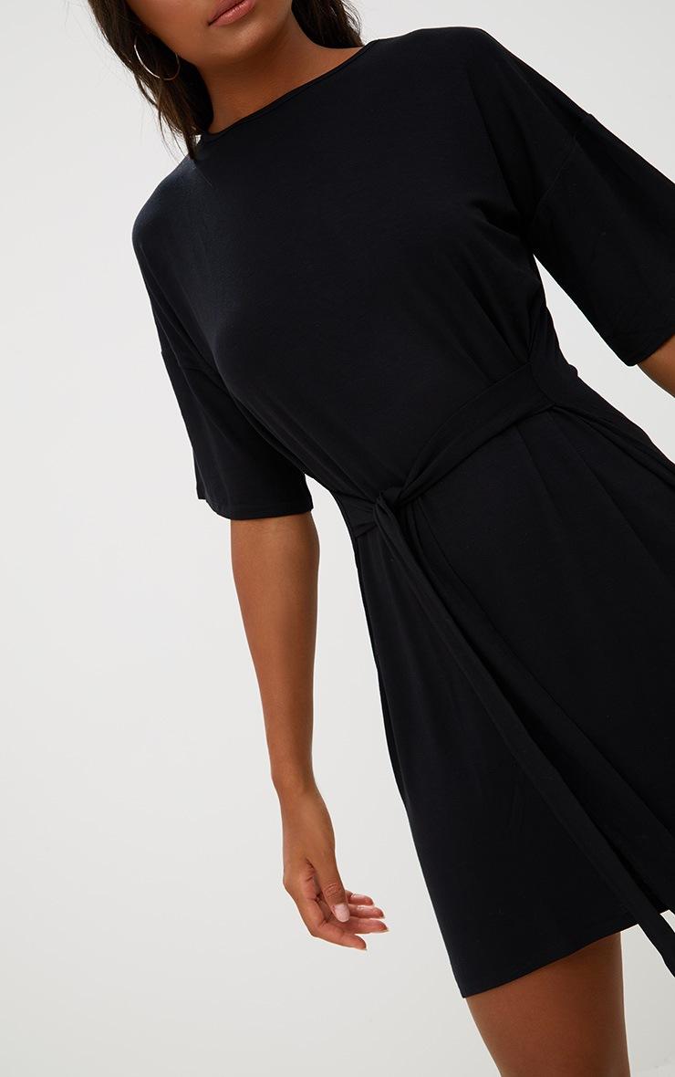 Black Tie Waist T Shirt Dress 5