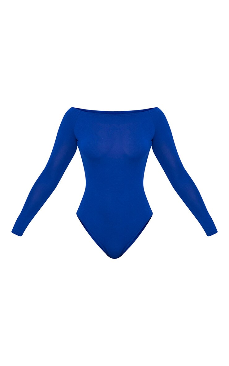 Basic Cobalt Bardot Bodysuit 5