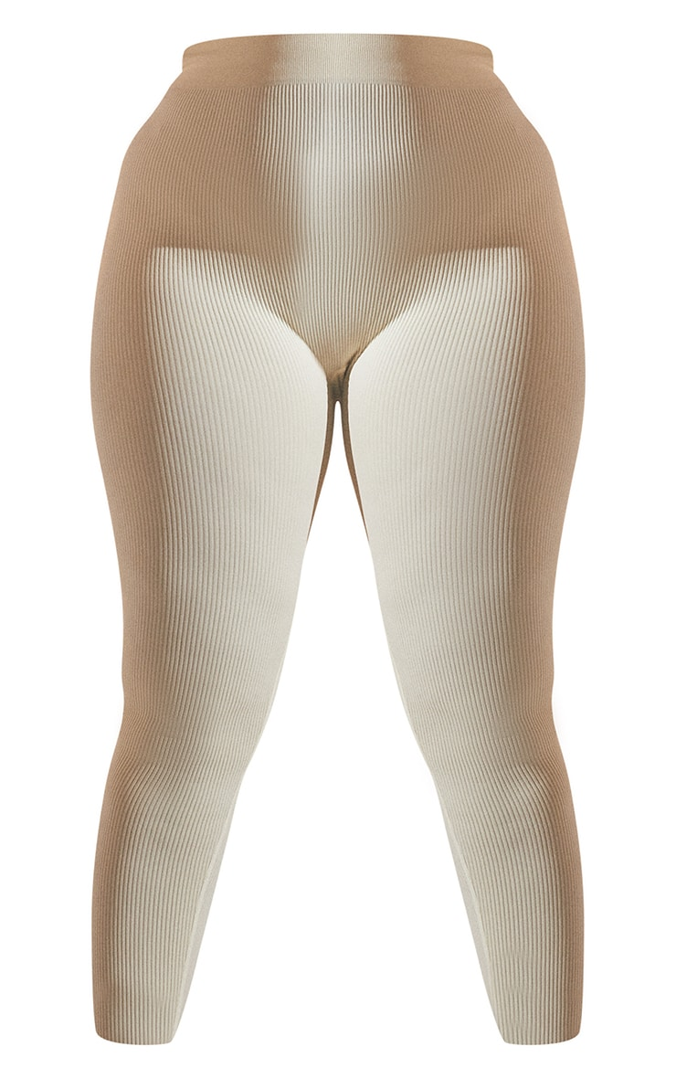 Plus Cream Contour Leggings 5