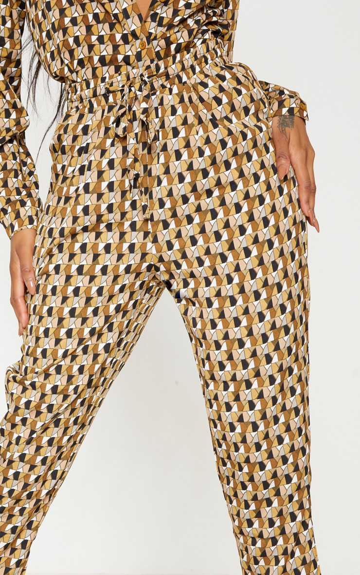 Multi Geo Print Cigarette Trouser 5