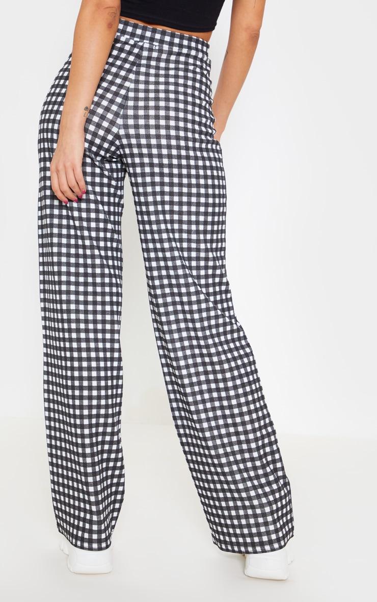 Pantalon à carreaux vichy noir 4