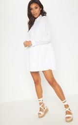 White Shirt Layer Frill Dress 4