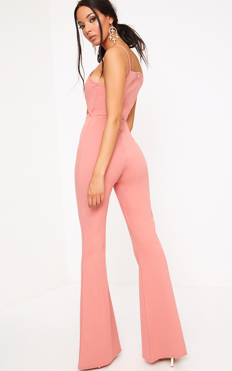 Blush Open Middle Wide Leg Jumpsuit 2