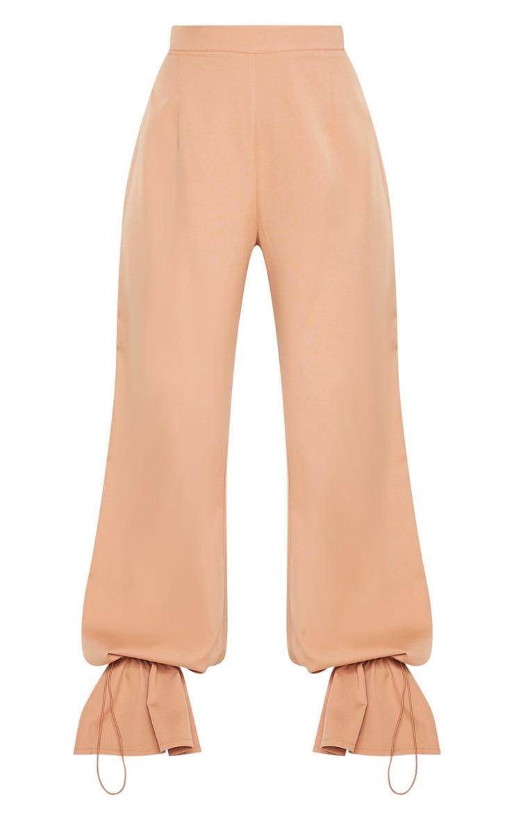 Camel Woven Toggle Cuffed Straight Leg Trouser 3