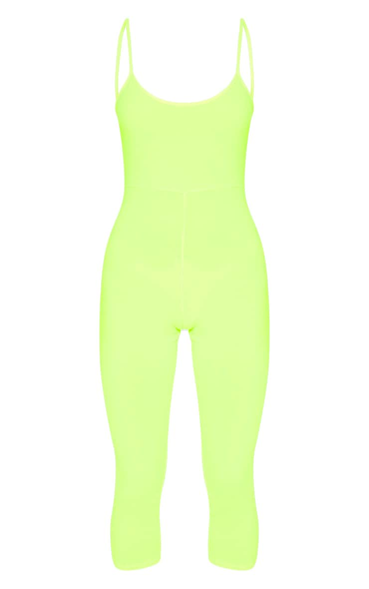 Neon Yellow Strappy Unitard 3