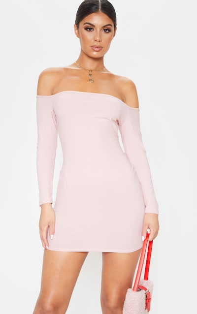 Blush Bardot Bodycon Dress