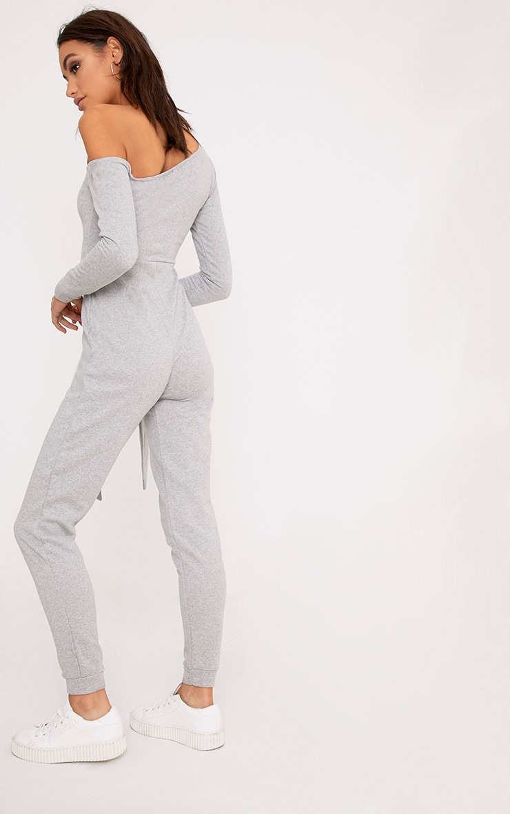 Lacie Grey Sweat Jumpsuit  2