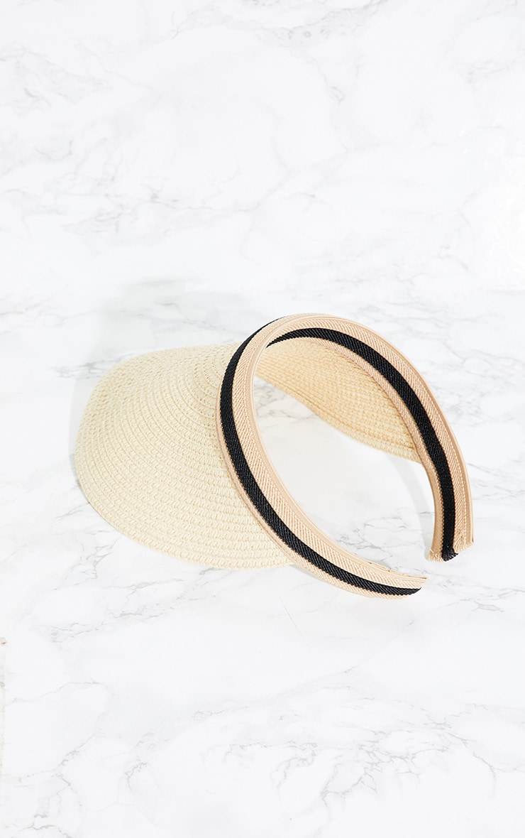 Cream Straw Visor 3