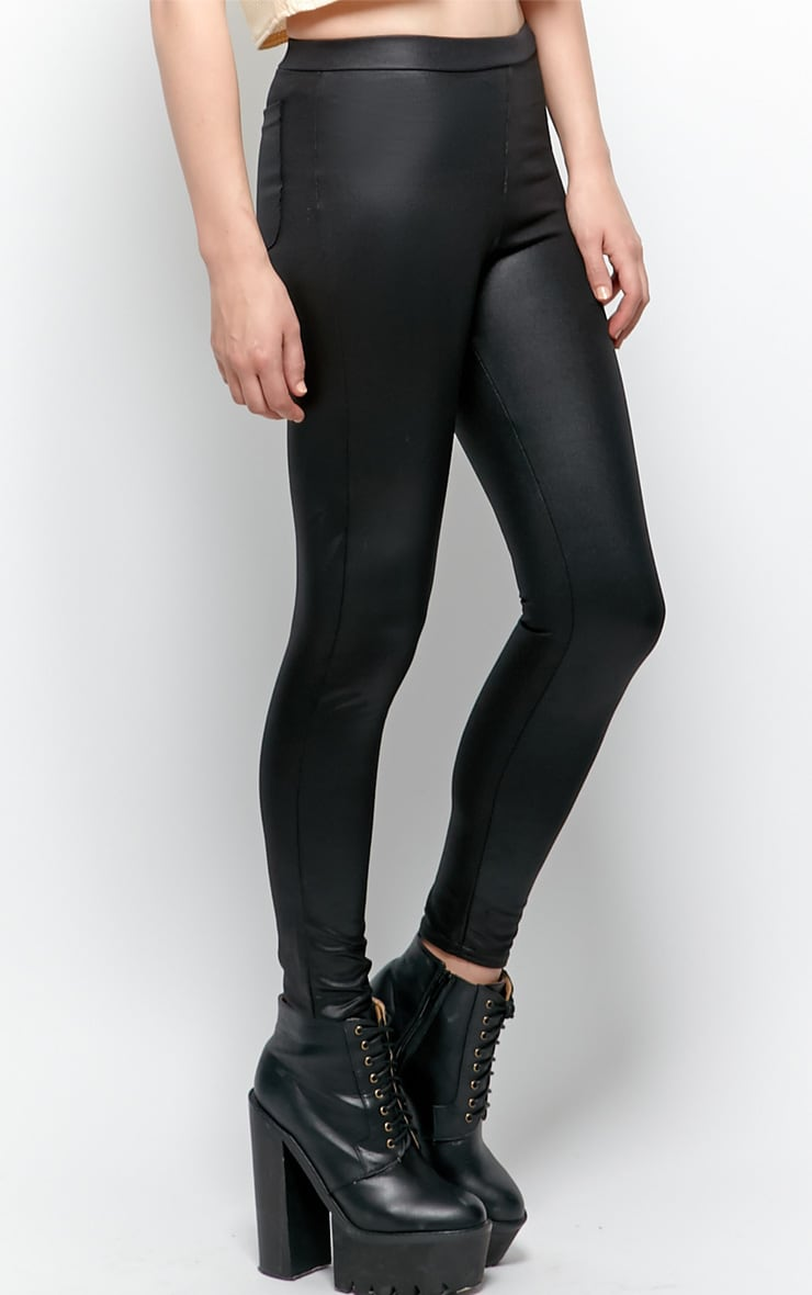 Emilia Black Disco Leggings 4