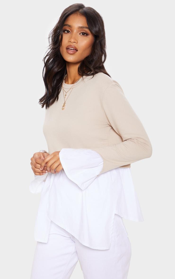 Stone Peplum Sweater 4