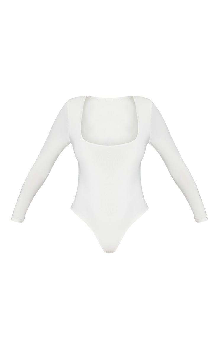 Seconde Peau - Body-string blanc à col carré 3