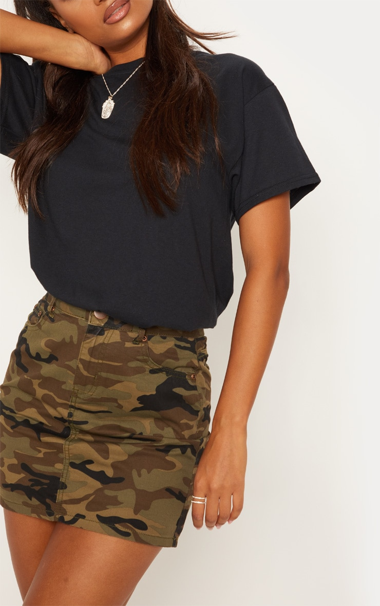 Camo Denim Skirt  6