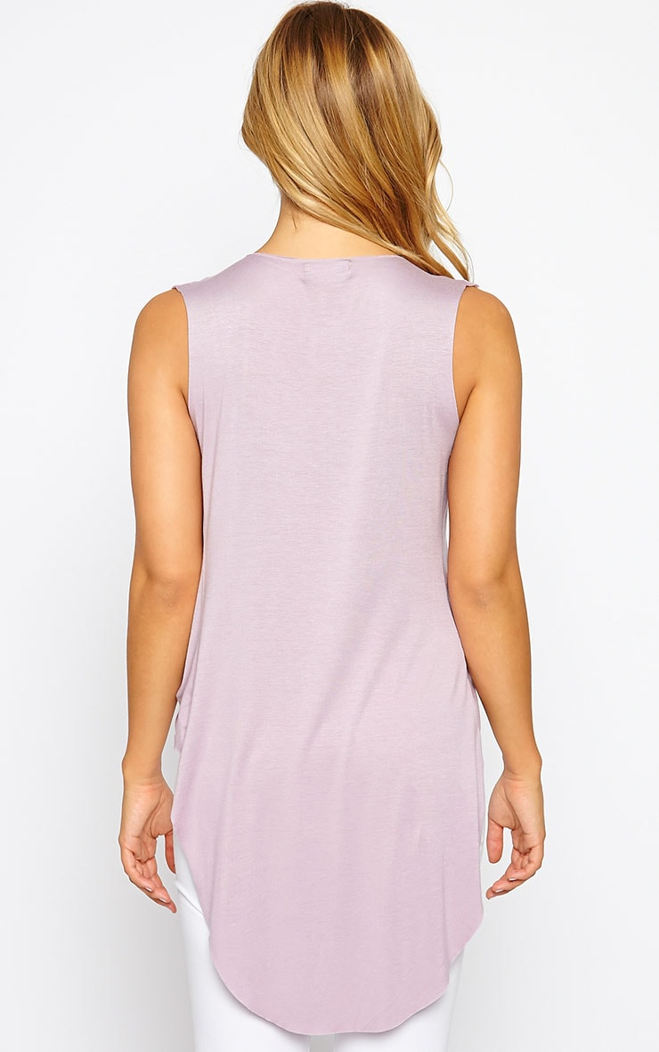 Jodeane Mauve Twist Front Sleeveless Top 2