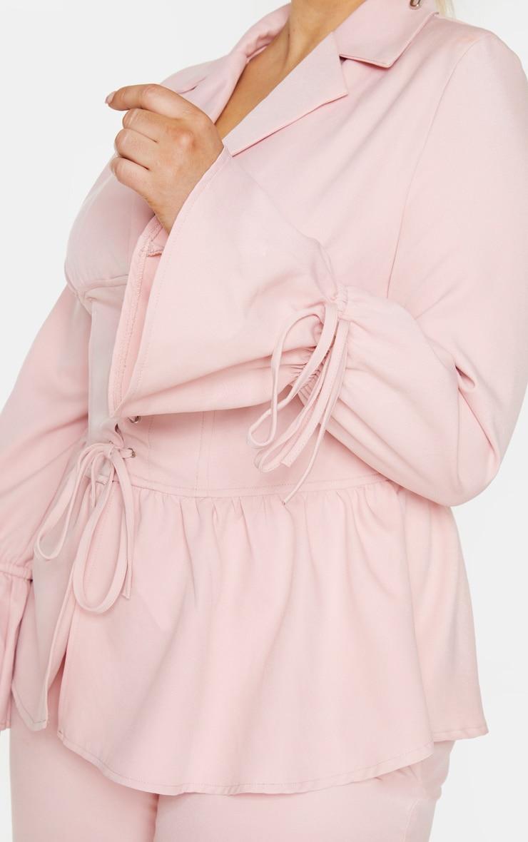 Plus Blush Corset Waist Blazer 4