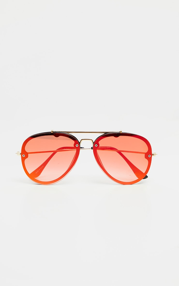 Red Tinted Lens Aviator Sunglasses 2