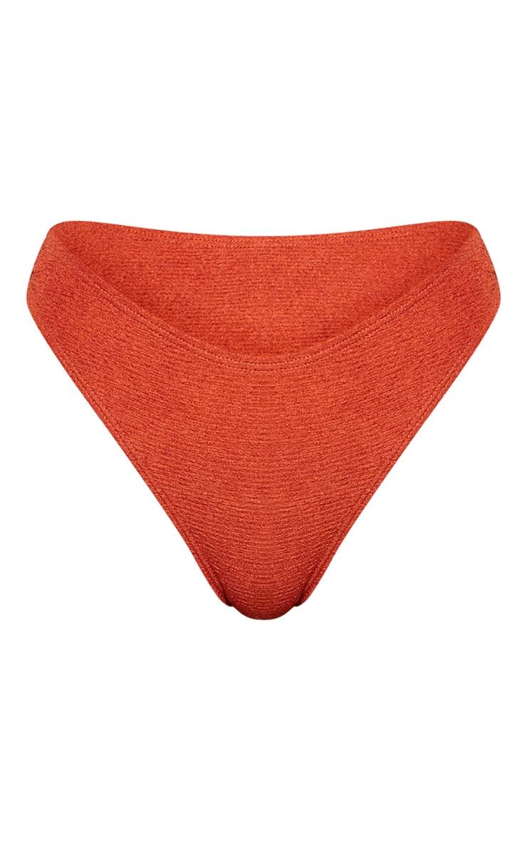 Bas de maillot de bain cheeky crêpé marron clair 6