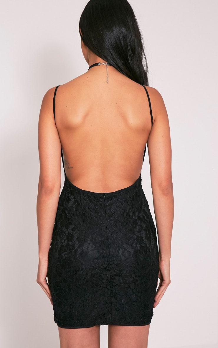 Patricia Black Scoop Back Lace Mini Dress 4