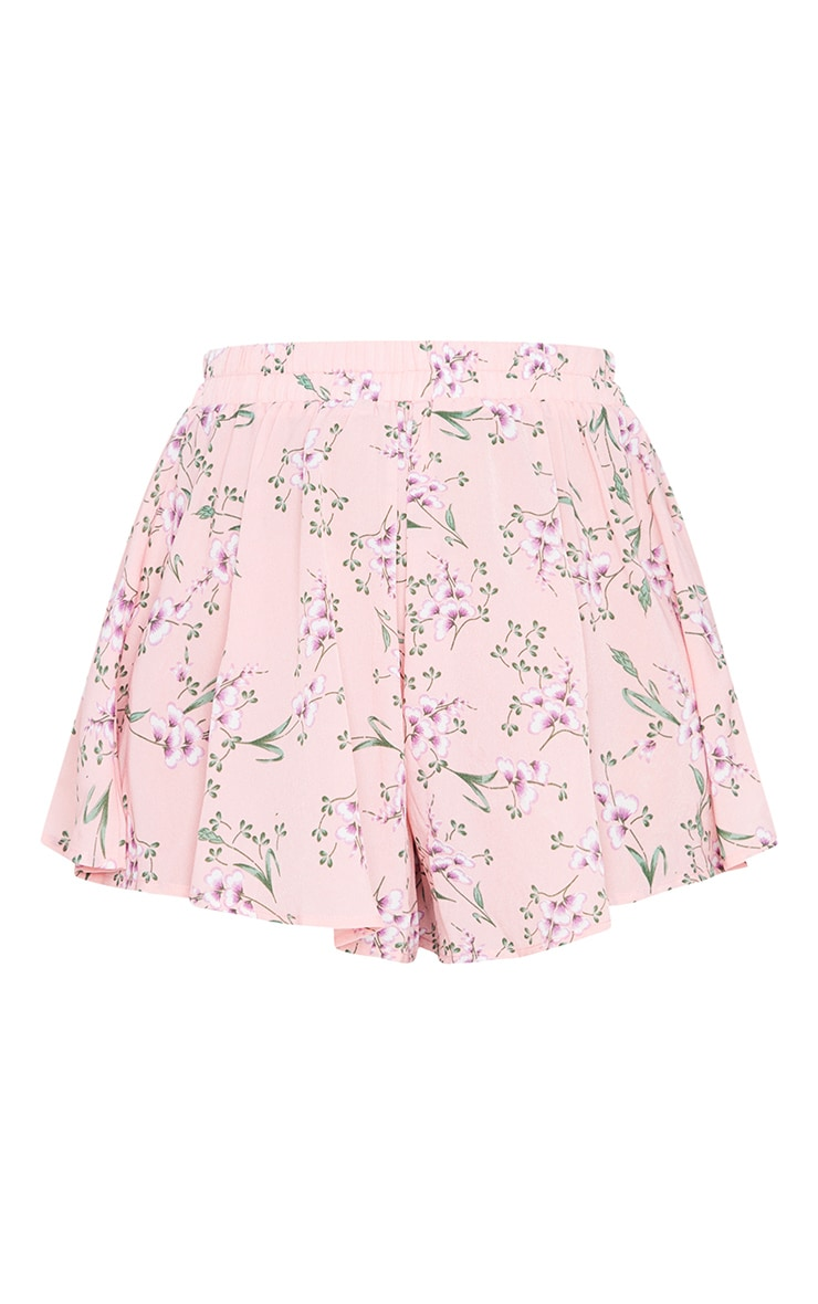 Pink Ditsy Floral Floaty Short 6