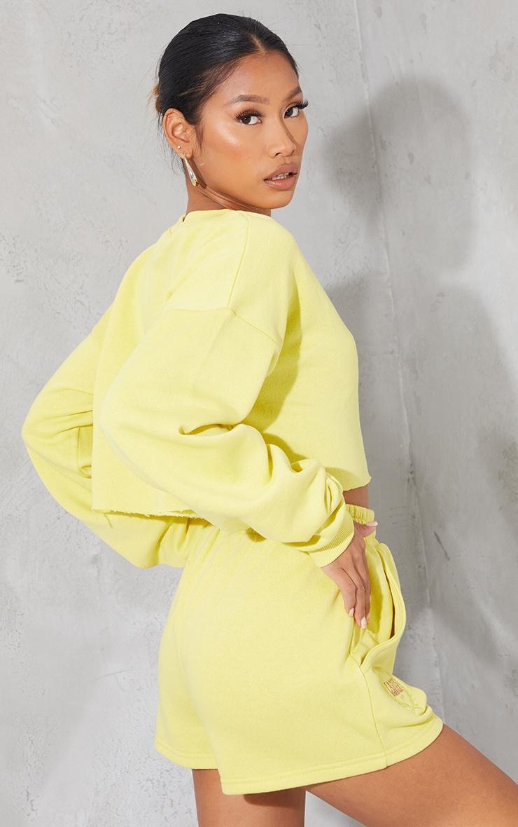 Lime LAGOS Printed Cropped Sweatshirt 2