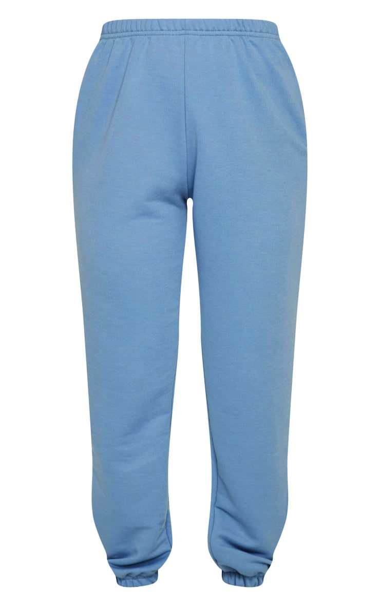 Dusty Blue Basic Cuffed Hem Jogger 5