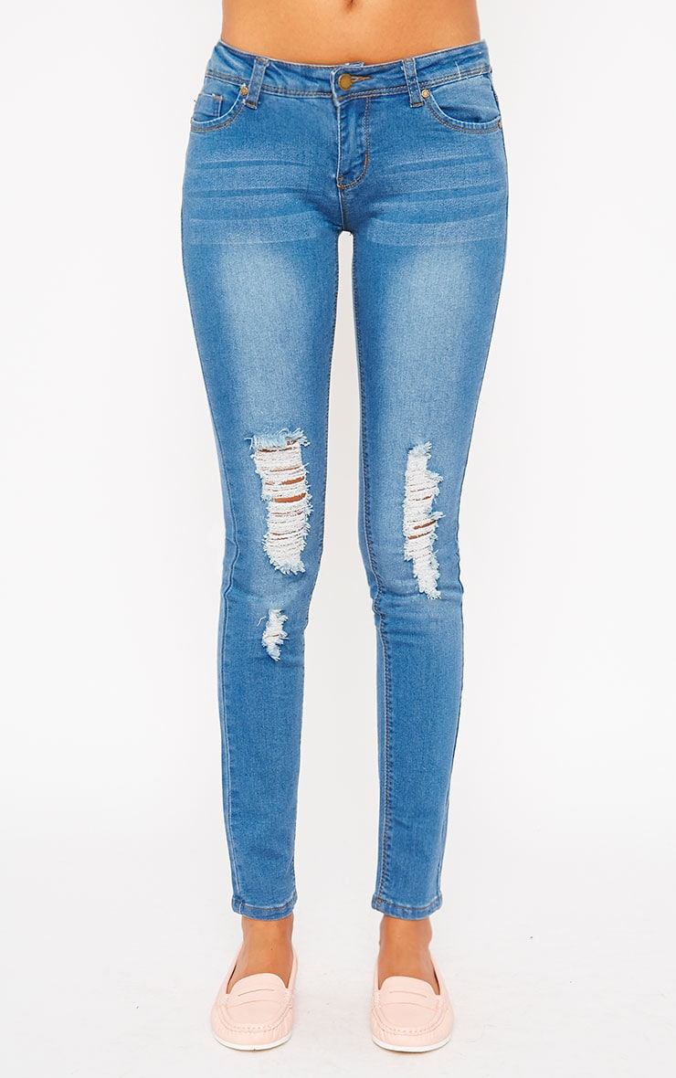 Mirka Blue Ripped Front Jeans 4