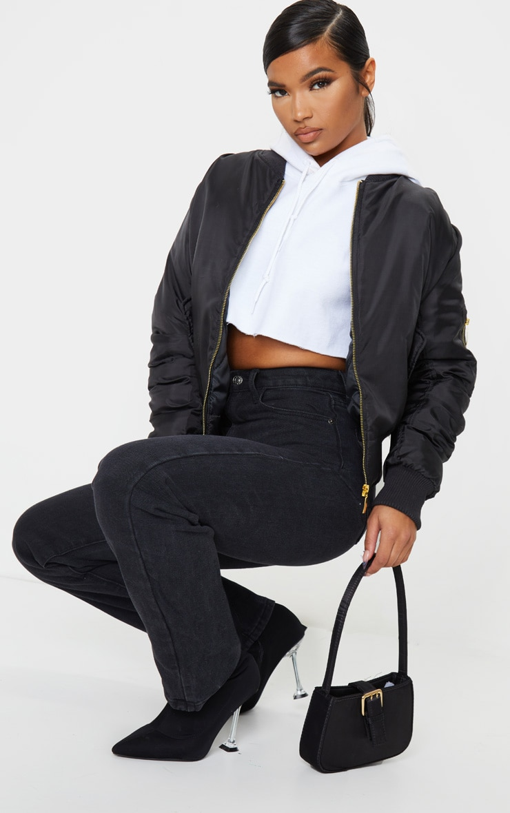 Alexus Black Bomber Jacket 3