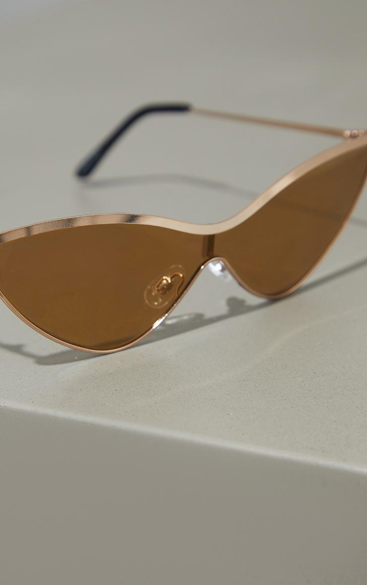 Gold Metal Cat Eye Sunglasses 3
