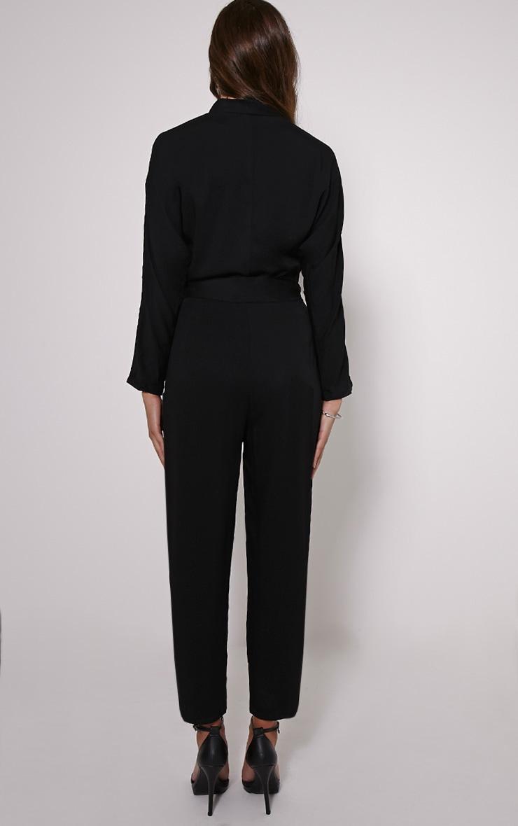 Briana Black Wrap Jumpsuit 2