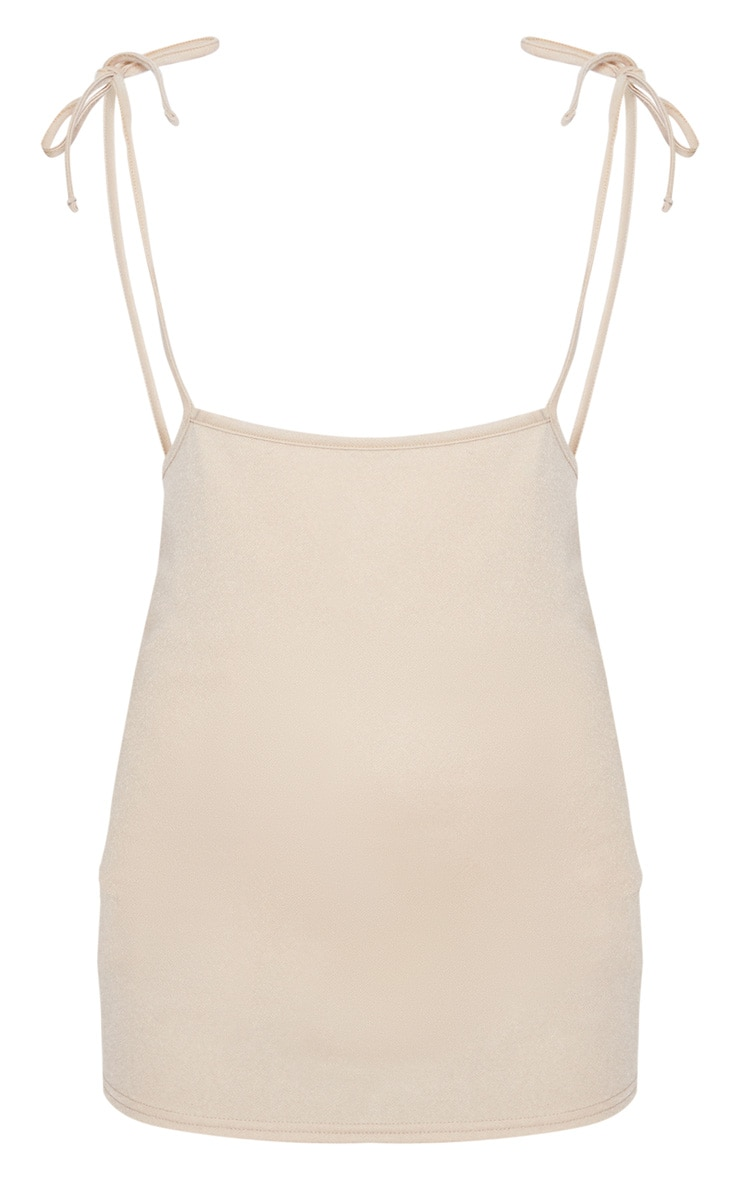 Stone Tie Shoulder Jersey Pinafore Dress 4