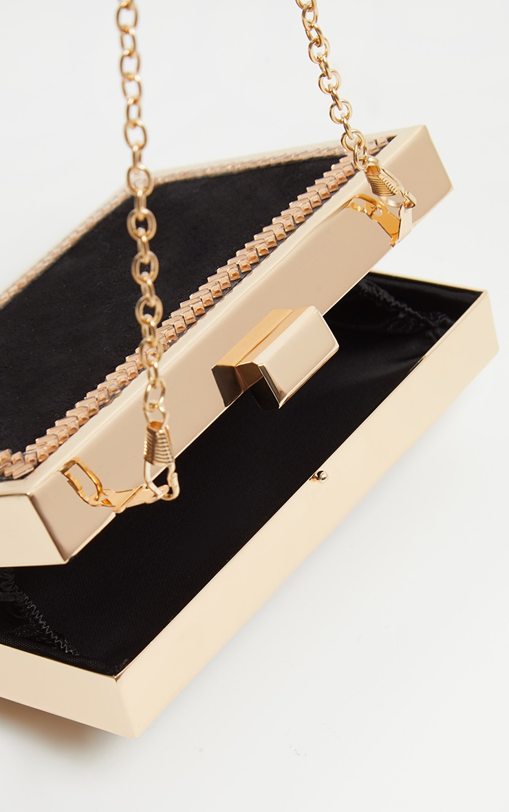 Black Satin Box Clutch 3