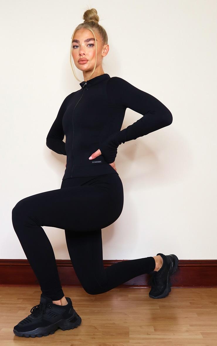 PRETTYLITTLETHING - Veste côtelée noire détail sans coutures 3