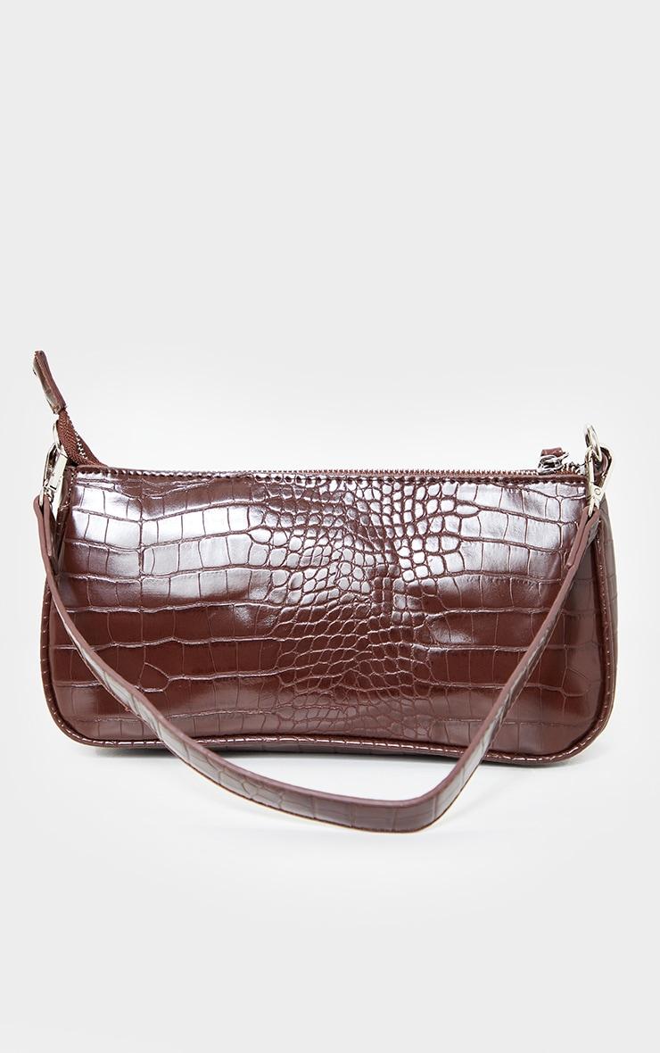 Chocolate Croc Shoulder Bag 2