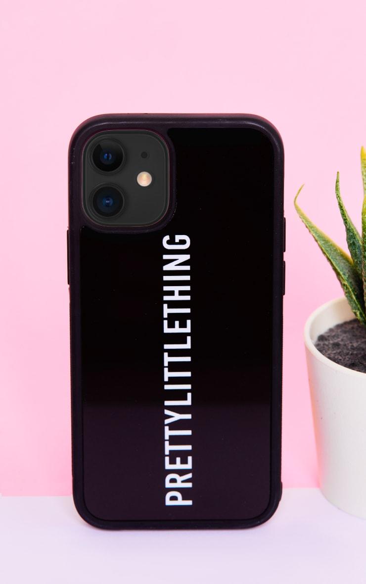 PRETTYLITTLETHING Black Logo iPhone 12 Mini Phone Case 1