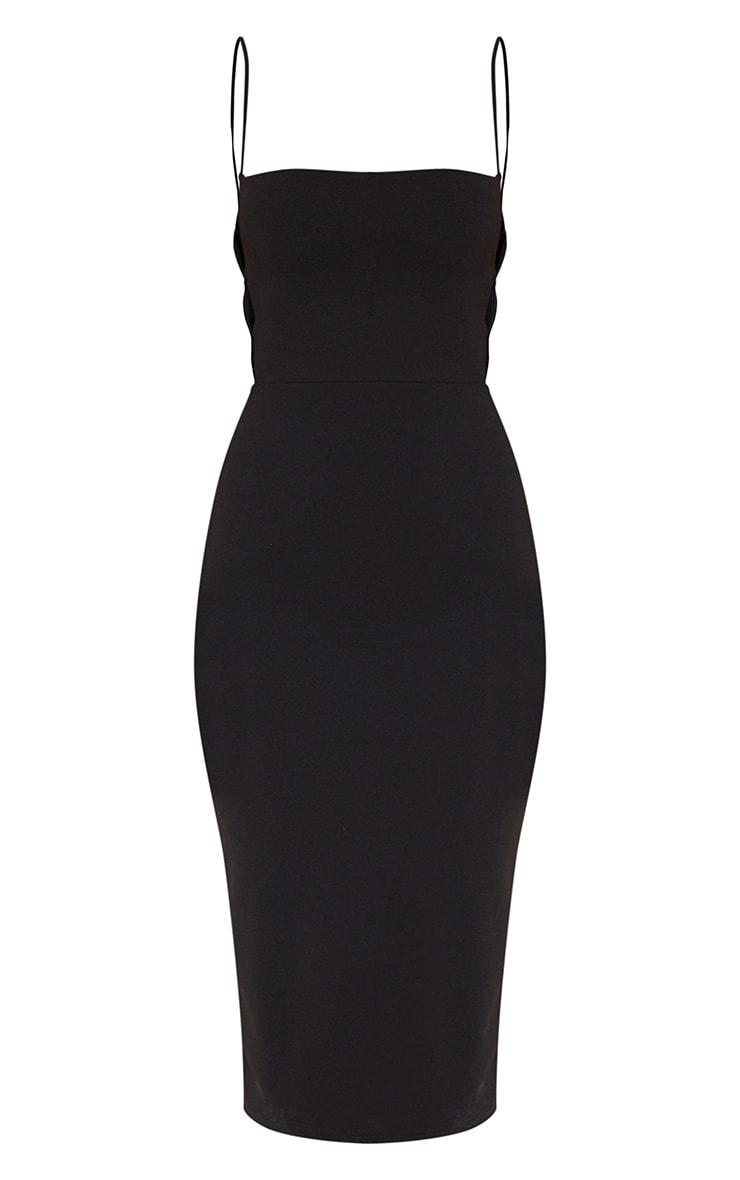 Black Side Cut Out Detail Midi Dress 3