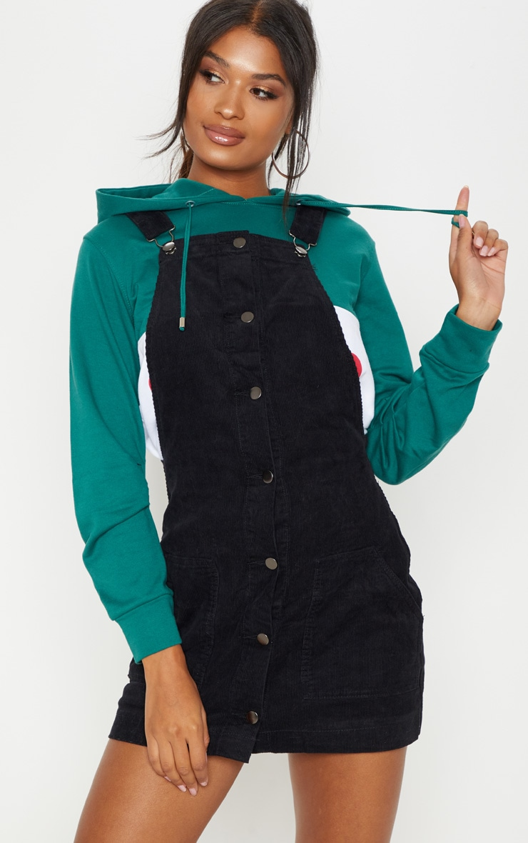 Black Cord Pinafore