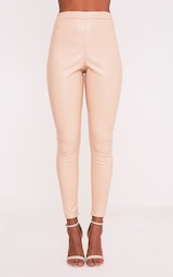 b3ebbf36e Taryn Nude Faux Leather Leggings - Leggings   Hosiery ...