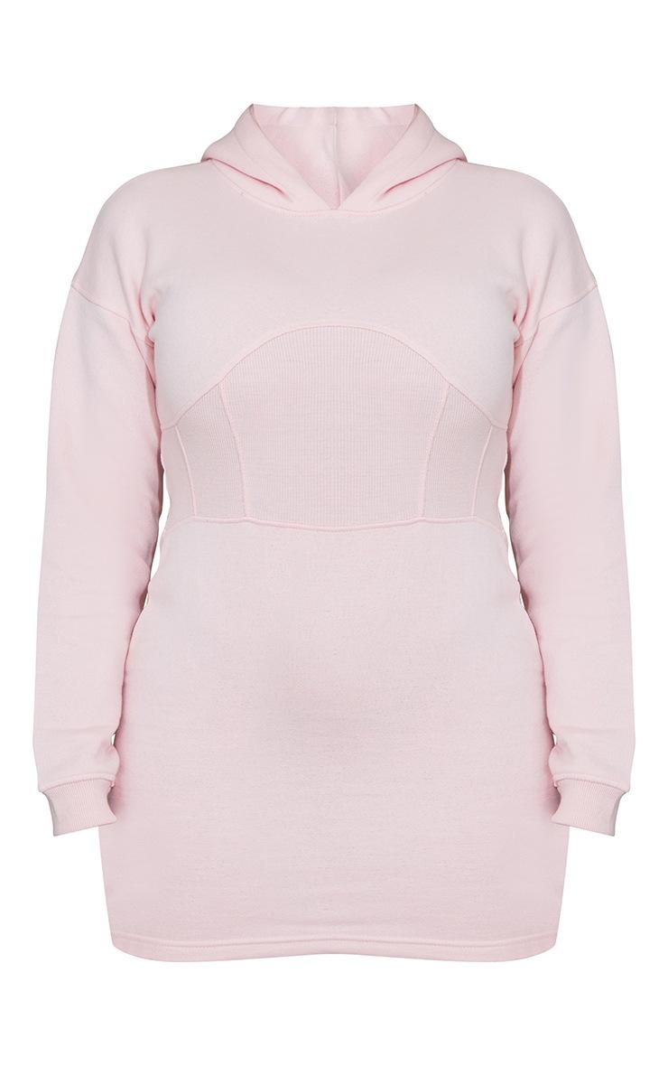 Shape Baby Pink Corset Detail Sweat Dress 5