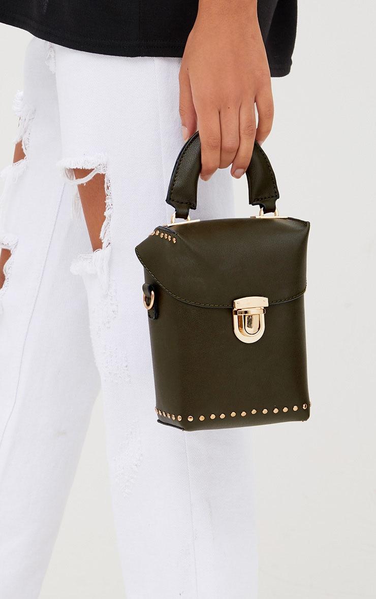 Olive Mini Handled Handbag 1