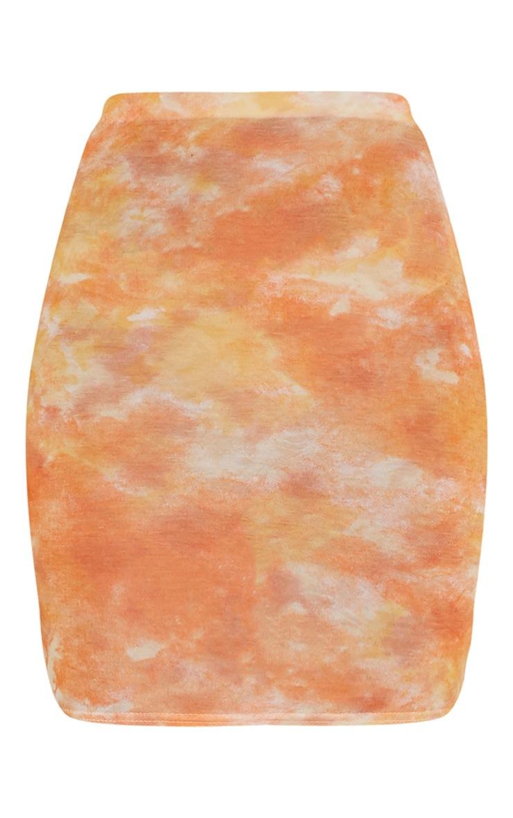 Aliza Orange Tie Dye Mini Skirt 3