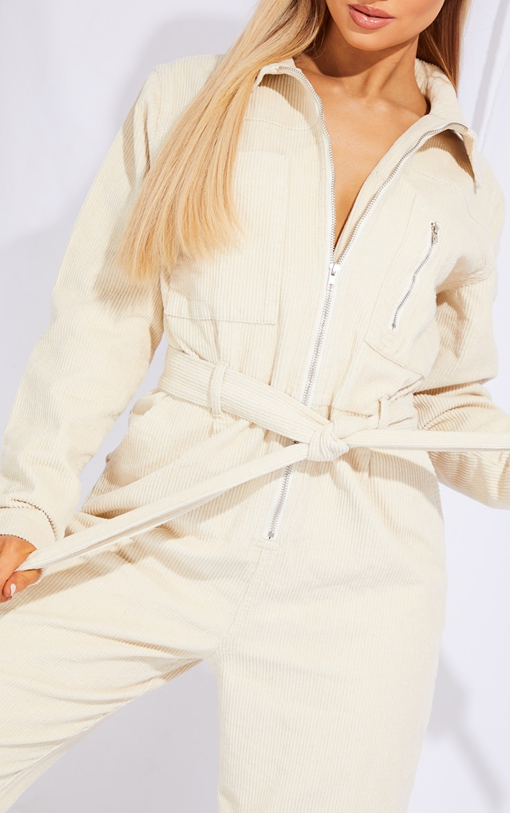 Stone Oversized Cord Belted Jumpsuit 4